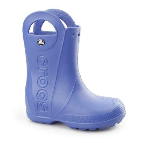 crocs handle it boots crocs handle it boot wellington boots sea blue
