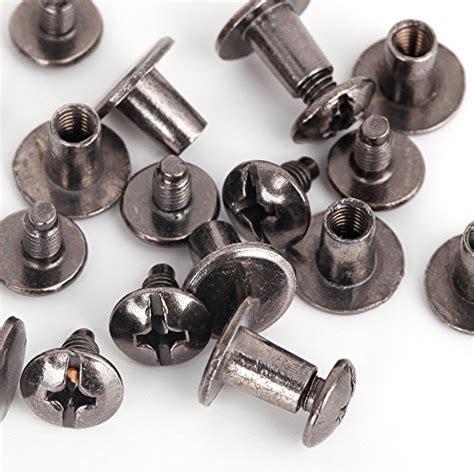 Paku Rivet Black Nikel 8mm X 7mm flat studs and spikes metal screwback for leathercraft diy black 8mm x 7mm 30 pcs