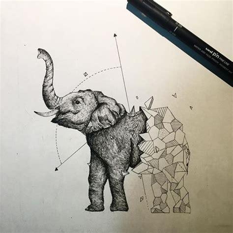 Half Of Lower Is Beast By Hikaru Ichidou les 25 meilleures id 233 es concernant geometric elephant sur tatouages d