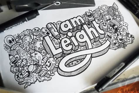 make doodle your name 26 adorable doodle artwork for your inspiration