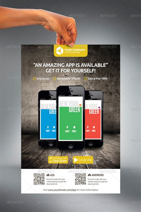 design poster app mobile app promotion flyers by hoanggiang12 graphicriver