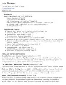 High School Senior Resume Template by Resume Template No Experience Trusted Essay Company That Provides Best Essay Writing