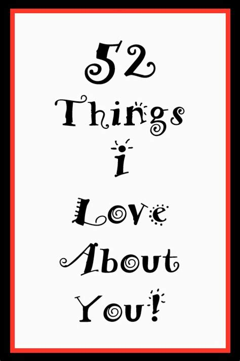 5 Things Sweet And Lovely by Simply N Sweet 52 Things I About You
