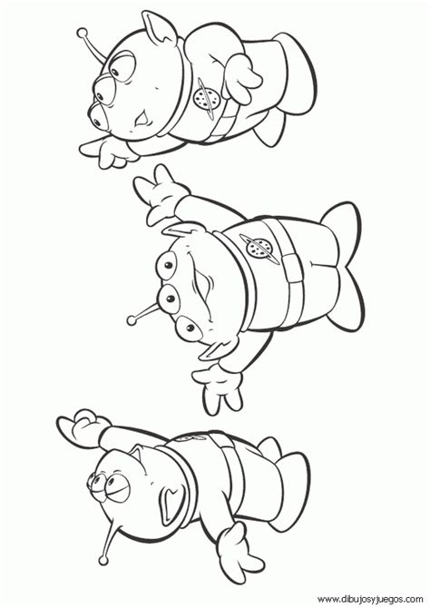free coloring pages of toystory aliens