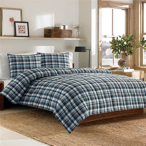 plaid comforter set eddie bauer bridgeport down alternative comforter set from