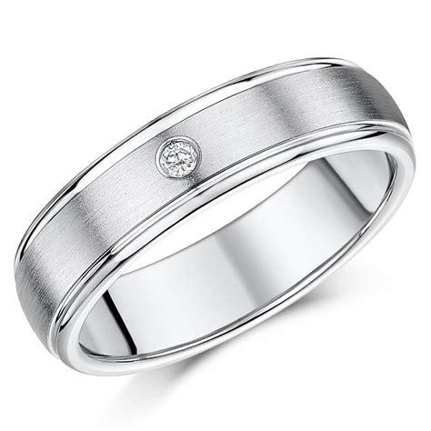 6mm diamond titanium wedding ring titanium rings at elma