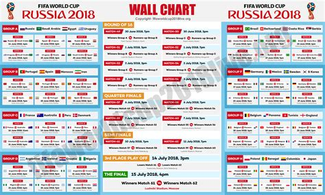 fifa world cup schedule fifa world cup 2018 schedule ist best image of