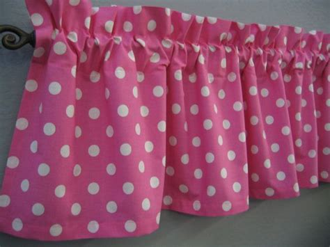 pink polka dot curtains pink and white polka dot valance by cornerstitchboutique