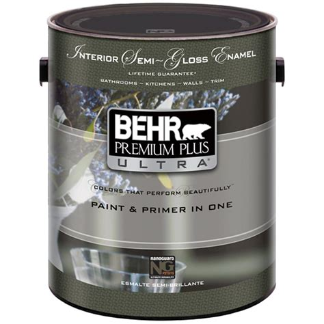behr premium plus ultra 1 gal white semi gloss interior 375001 the home depot