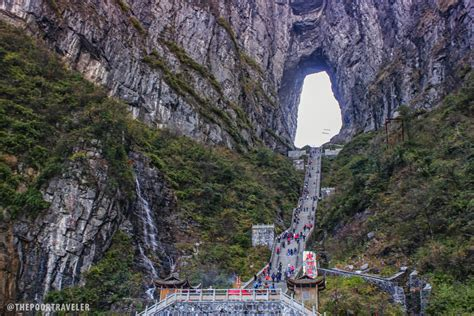 Stair Case by Gateway To Heaven Tianmen Cave In Zhangjiajie China