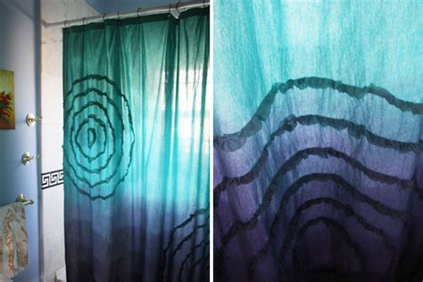 where can i get curtains dyed how to make a dip dyed ombre shower curtain brit co