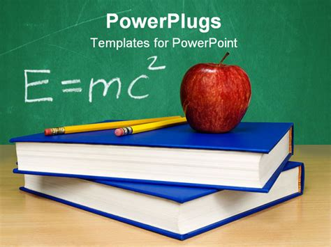 physics powerpoint templates powerpoint template theory of relativity apple on top of