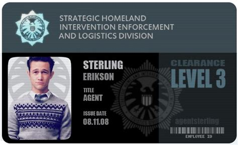 of shield id card template access granted