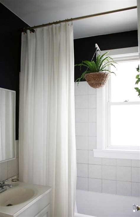 Simple Shower Curtains More Ways To Update A Bathroom Centsational Bloglovin