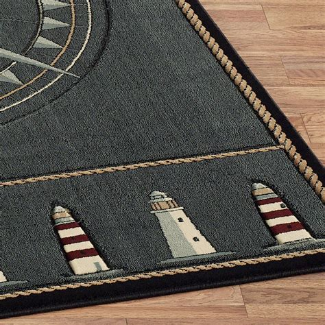Nautical Runner Rug Compass Nautical Area Rugs