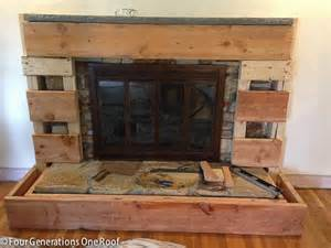 rental fireplace makeover our fireplace makeover stage 3 covering the with