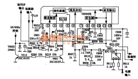 integrated circuit output ta8445k field scanning output integrated circuit automotive circuit circuit diagram seekic