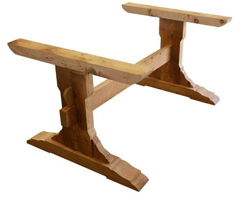 image  reclaimed wood trestle table trestle dining