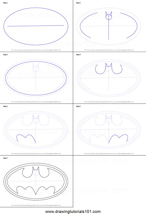how to a step by step how to draw batman logo printable step by step drawing sheet drawingtutorials101