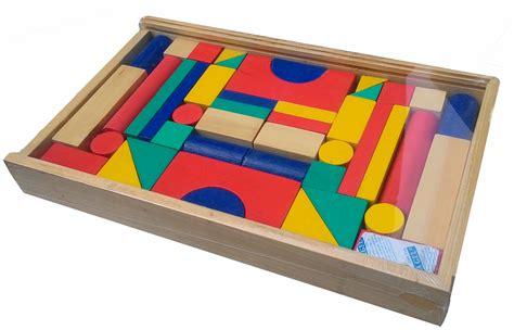 balok bangun kayu 42s mainan kayu