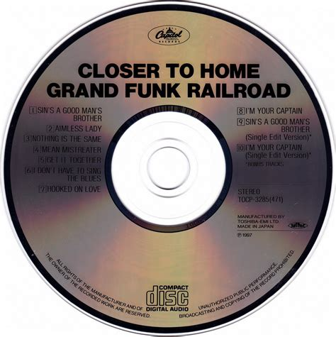 grand funk railroad closer to home 1970 japan tocp