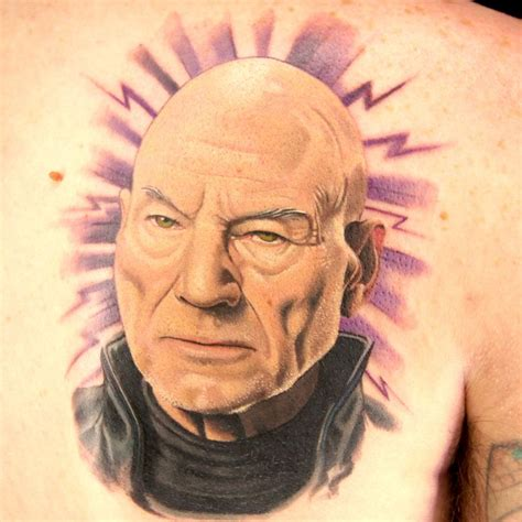xmen tattoo ink master patrick stewart professor x tattoo by sausage on an