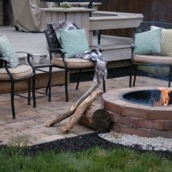 Paver Patio Ideas Before And After Backyard Makeover With Diy Firepit And