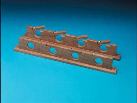 Fishing Rod Racks For Boats by Whitecap 60620 Teak Lock In Four Rod Storage Rack