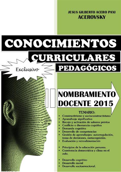 balotario desarrollado para el concurso de nombramiento de temario desarrollado para nombramiento docente 2015