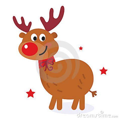 cute christmas cartoon reindeer stock  image