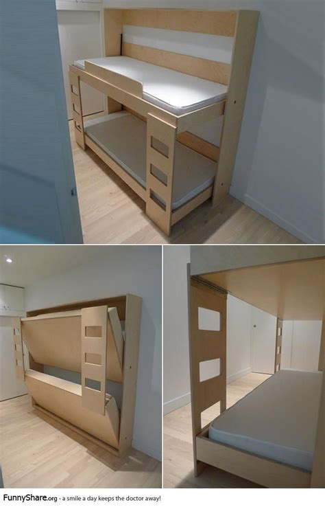 Beds That Fold Into Wall by Fold Up Bunk Beds Great For A Kid Sleep Or