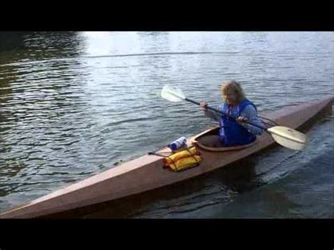 Handmade Wooden Kayak - maiden voyage of nancy miller s handmade wooden kayak