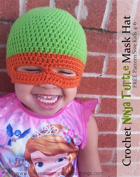 pattern for ninja turtle mask crochet ninja turtle patterns
