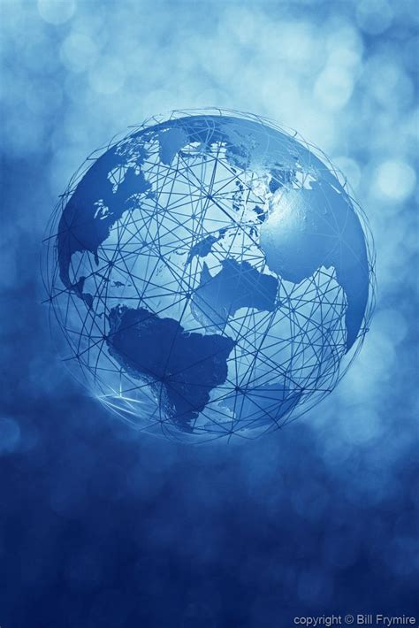 blue connected wire globe