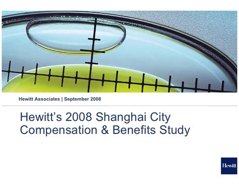 Compensation And Benefits Project For Mba by 2008 Shanghai Compensation And Benefits Study