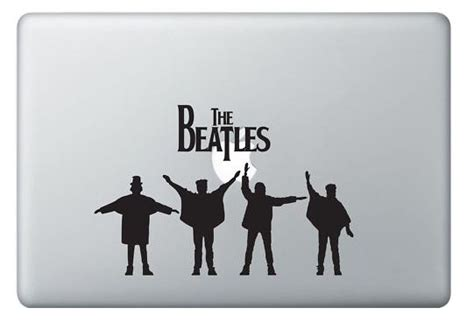 Decal Sticker Apple Beatles Katze Decal beatles and apple macbook decal sticker