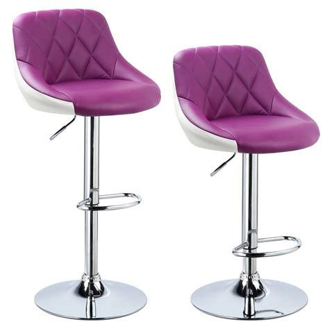 bar stools swivel with back 2 x bar stools faux leather breakfast kitchen swivel stool chair with back u030 ebay