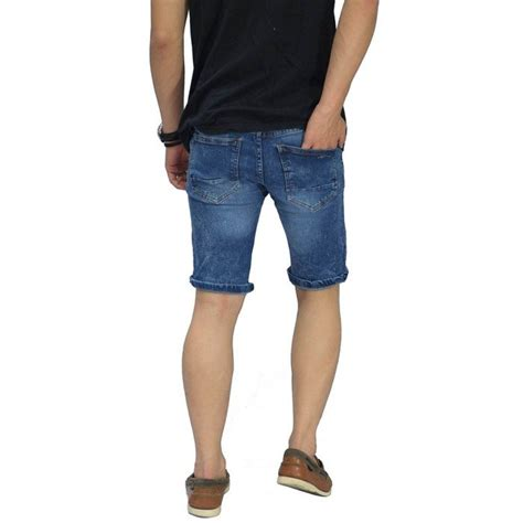 Celana Pendek Snow celana pendek denim 3 ripped blue celana