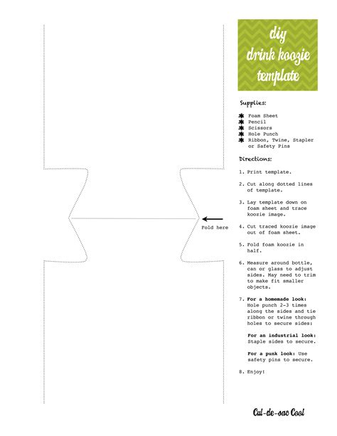 Koozie Design Template diy drink koozie and printable gift tags blogher