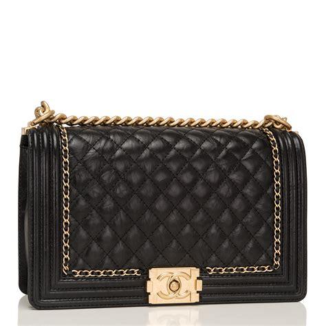Chanel Boy Bag chanel black calfskin new medium quot jacket quot boy bag world s best