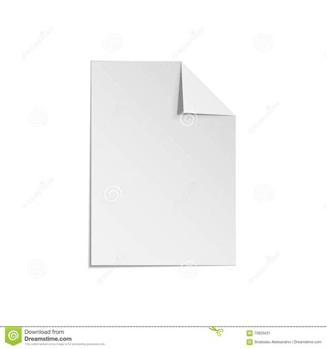 Paper Corner Fold - paper sheet with folded corner stock vector illustration