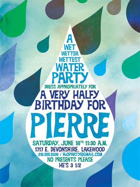 free printable birthday invitations water water party invitations printable