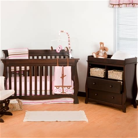 Convertible Cribs With Changing Table And Drawers Storkcraft Espresso Carrara 4 In 1 Convertible Crib And 2 Drawer Changing Table 2 Nursery