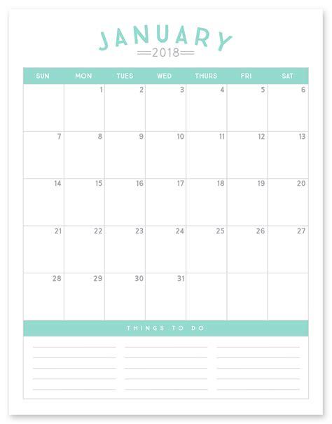 printable  calendar simple