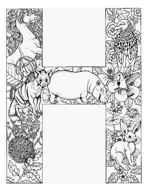 H Coloring Pages For Adults by Alphabet Animal Coloring Pages H Projects To Try