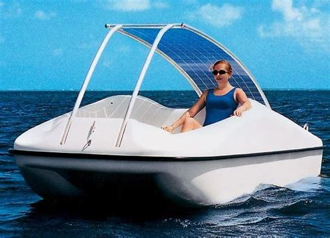 solar powered boat for sale solar powered boats to sail clean on blue waters ecofriend