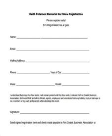 registration form template pdf sle car registration forms 10 free documents in word