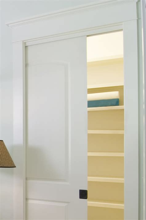 Pocket Closet Doors Impressive Pocket Doors Layout Showcasing Wooden Sliding Doors Installation In White Accent With