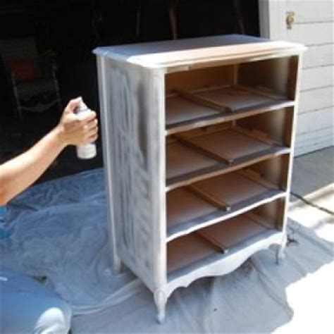 how to paint wood furniture spray paint tip junkie