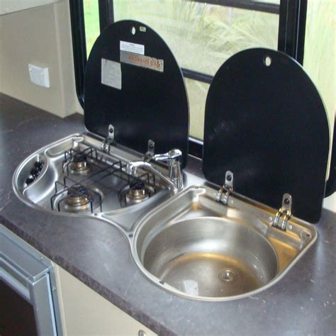 sink and stove combo caravansplus smev 3 burner stove sink combo no tap